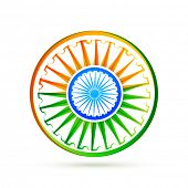 foto of indian flag  - beautiful creative vector indian flag design background - JPG
