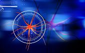 picture of neuron  - Digital illustration of  neuron  in colour  background - JPG