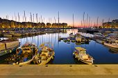 foto of zea  - Fishing boats and yachts in Zea Marina in Athens - JPG