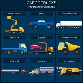 image of tank truck  - Set of elements cargo transportation - JPG