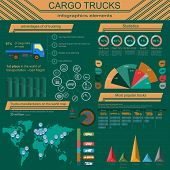 picture of lorries  - Cargo transportation infographics trucks lorry - JPG