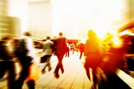 picture of commutator  - Business People Corporate Walking Commuting City Concept - JPG