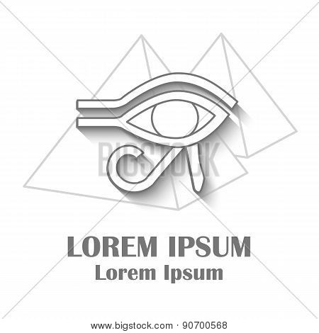 Template for card or logo on ancient Egypt theme