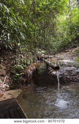 small waterfall in deep forest at Ban Pako, Lao people democratic republic
