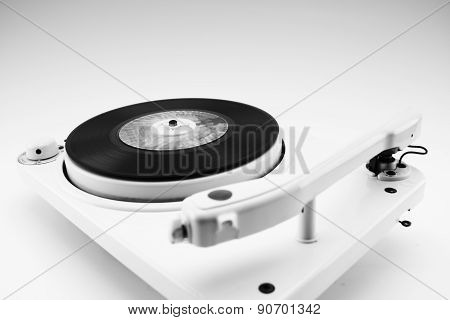 Composition With Vintage Record Player And Record