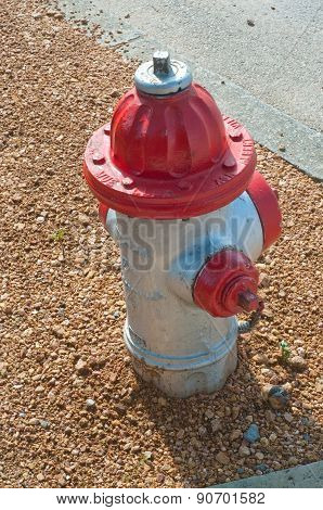 Red Fire Hydrant On Gravel