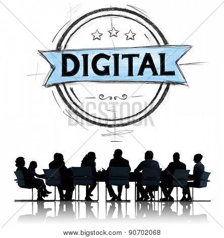 Business People Digital Modern Technology Concept