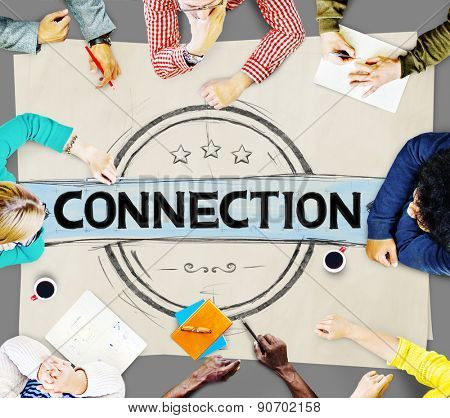 Connection Networking Global Communication Connecting Concept
