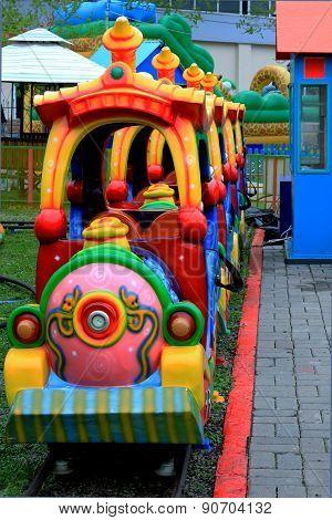 Children's train ride at the amusement Park