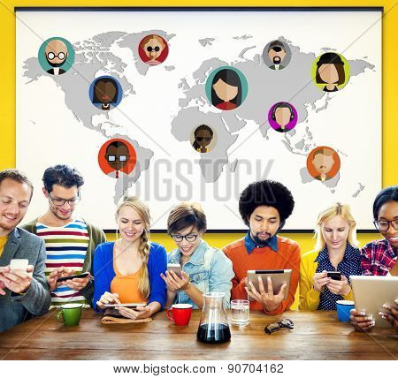 Global Community World People International Nationality Concept
