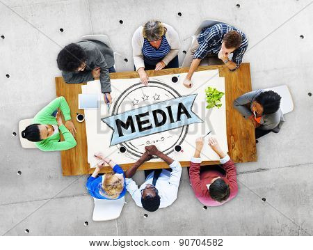 Media Journalism Multimedia Communication Internet Concept