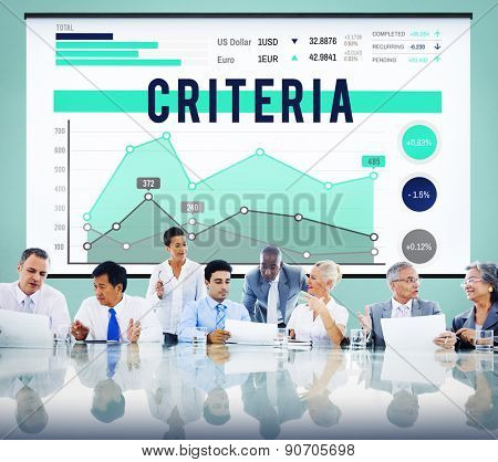Criteria Regulation Generality Business Marketing Concept
