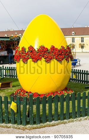 Large Yellow Easter Egg At Vienna Holiday Market
