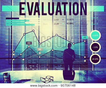 Business People Evaluation Banner Concept