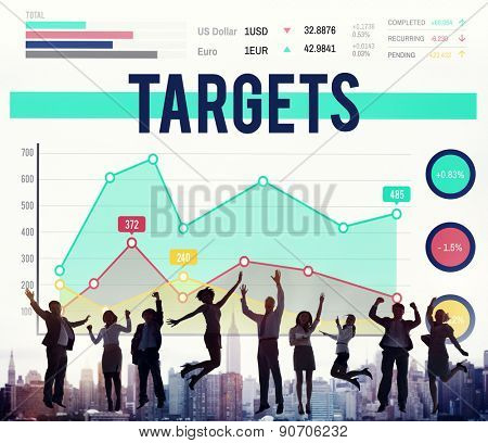 Targets Aim Aspirations Goal Mission Concept