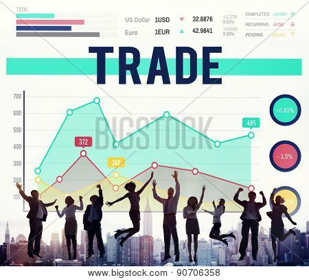 Trade Transaction Swap Market Merchandise Concept