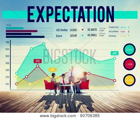 Business People Expectation Graph Concept