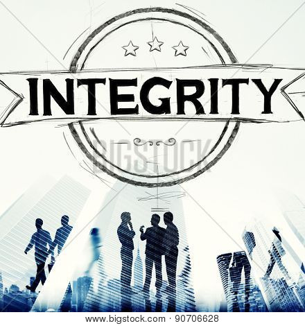 Integrity Attitude Belief Fairness Trustworthy Concept