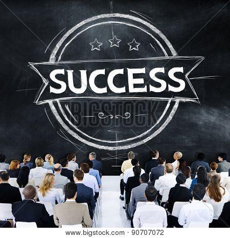 Business People Success Achievement Banner Concept