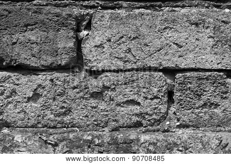 Stone Wall Rocky Cracked Background Texture