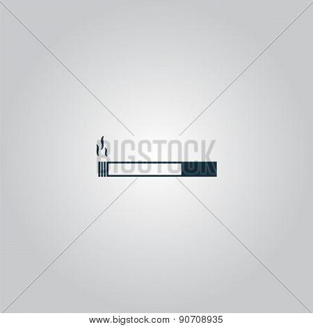 smoking symbol on gray background