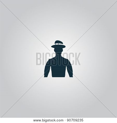 cowboy head vector illustration