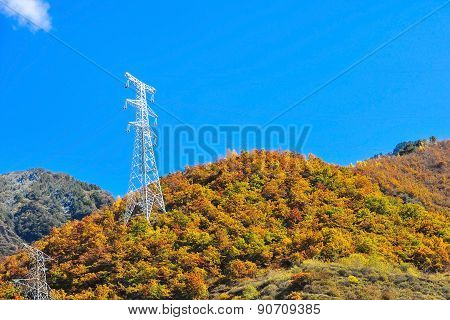 High voltage poles in The Mountain