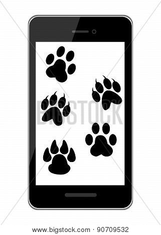 pet trail and smart phone black