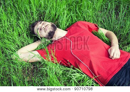 Boy In A Grass