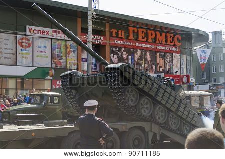 Military Parade For The 70Th Anniversary Of The Victory. Kaliningrad.