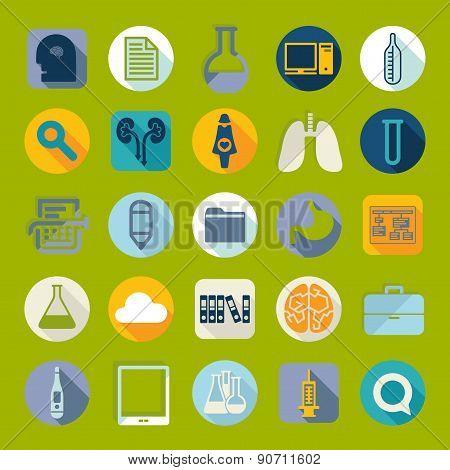 Set of medical flat icons