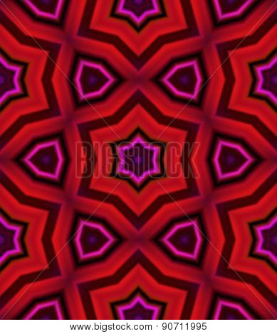 Red Kaleidoscopic Seamless Pattern