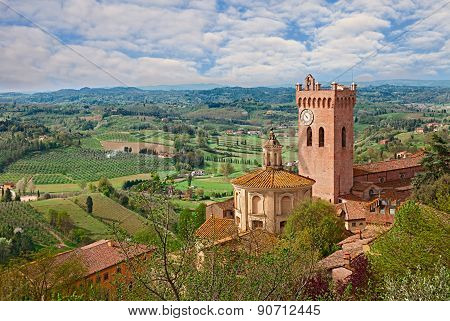 View Of San Miniato, Pisa, Italy