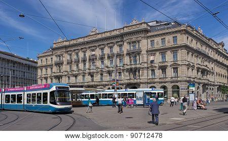 Paradeplatz Square In Zurich