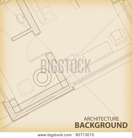 Architecture interior plan background