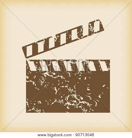 Grungy clapperboard icon