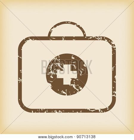 Grungy first-aid kit icon