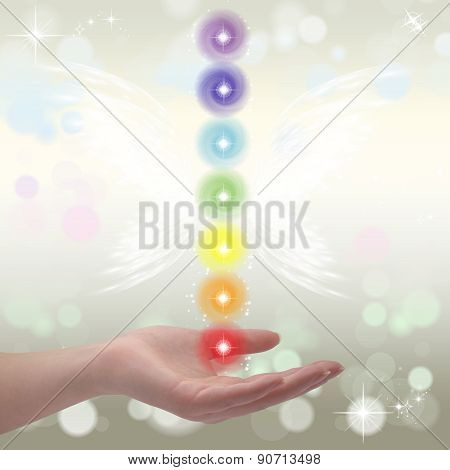 Healing Hands and seven chakras