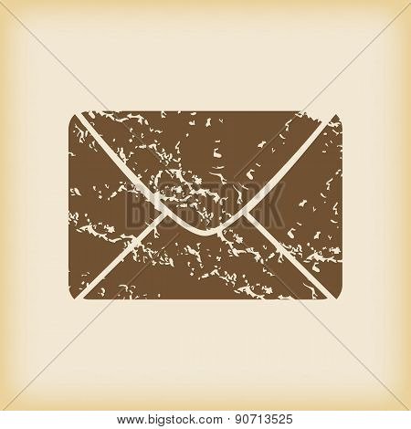 Grungy letter icon