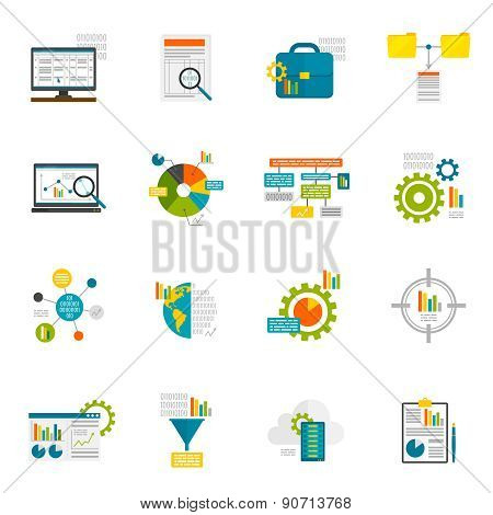 Data Analytics Flat Icons