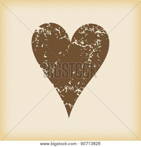 Grungy hearts icon