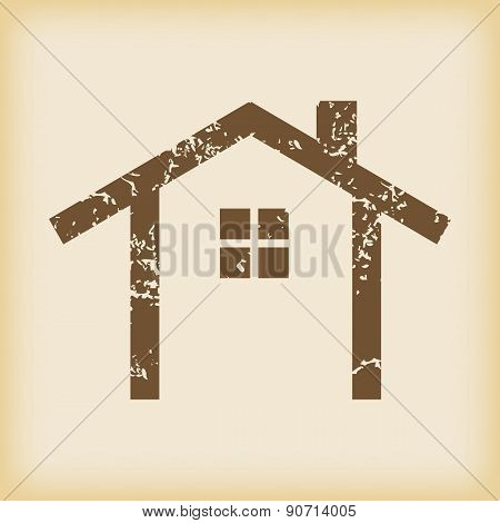 Grungy cottage icon