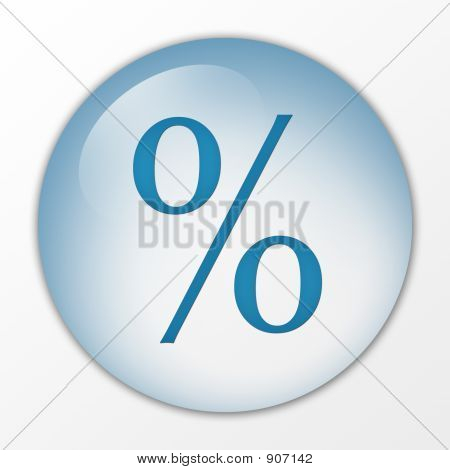 Percentage, Percent, Icon, Web Button