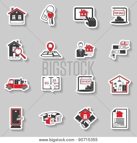 Real Estate Sticker Set