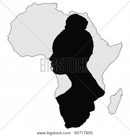 African Woman (silhouette)