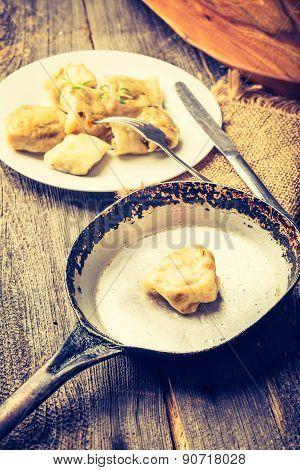 Vintage Photo Of Fried Dumplings