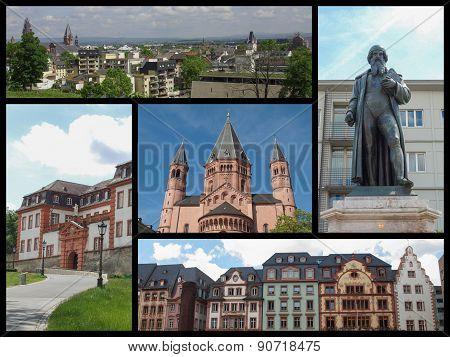 Mainz Landmarks Collage