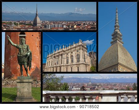 Turin Landmarks Collage