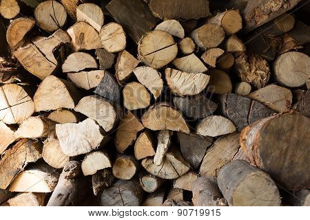 Firewood In A Storage