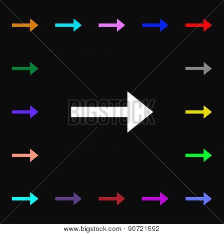 Arrow Right, Next  Icon Sign. Lots Of Colorful Symbols For Your Design. Vector